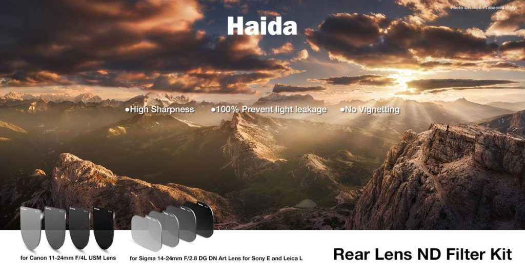 Haida rear lens nd filter kit