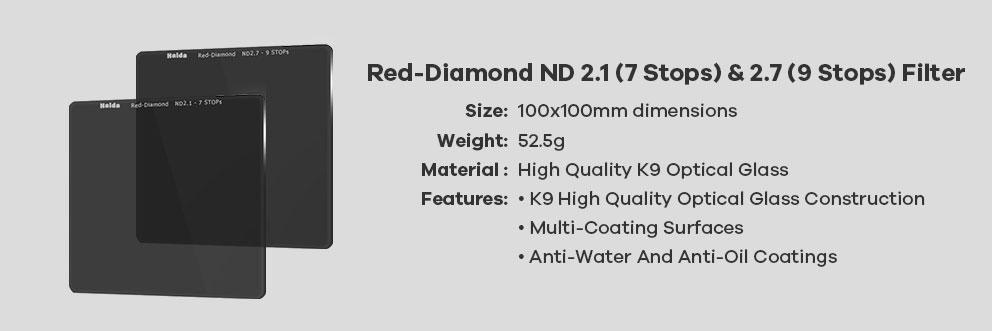 filtry haida prostokątne red diamond nd2.1 nd2.7